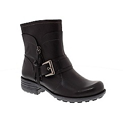 Earth Spirit - Black 'Denton' ankle boot with buckle detail