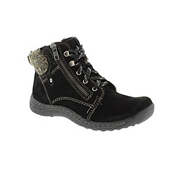 Earth Spirit - Black 'Denver' ladies boots