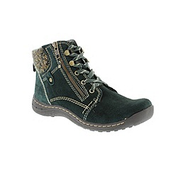 Earth Spirit - Green 'Deep Pine Denver' ladies boots