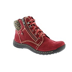 Earth Spirit - Red 'Scarlet Denver' ladies boots