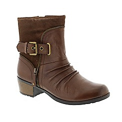 Earth Spirit - Brown 'Bark Edmund' ladies boots