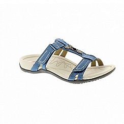 Earth Spirit - Blue leather 'Fargo' two strap sandals