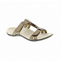 Earth Spirit - Gold leather 'Fargo' two strap sandals