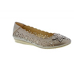 Earth Spirit - Metallic 'Fontana' ladies ballerina pump
