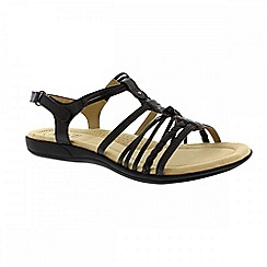 Earth Spirit - Black 'Freemont' ladies strappy sandals