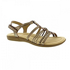 Earth Spirit - Metallic 'Freemont' ladies strappy sandals