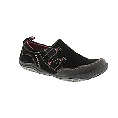 Earth Spirit - Black Black 'Frenso' ladies slip on shoes