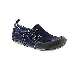 Earth Spirit - Blue Navy 'Frenso' ladies slip on shoes
