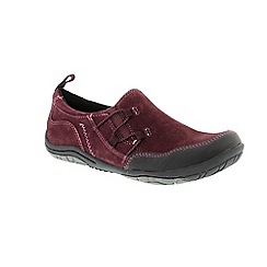 Earth Spirit - Red Prune 'Frenso' ladies slip on shoe