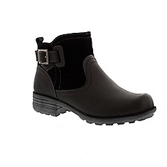 Earth Spirit - Black 'Georgia' ankle boot with zip fastening