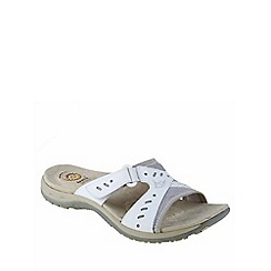 Earth Spirit - White 'Indiana' ladies casual sandal