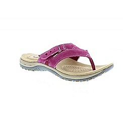 Earth Spirit - Plum 'Iwoa' ladies casual toe post sandal