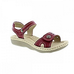 Earth Spirit - Red 'Jackson' ladies sandals
