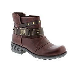 Earth Spirit - Maroon 'Merlot Kentucky' ladies boots