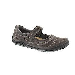 Earth Spirit - Grey Grey 'Lawton' ladies one strap shoe