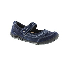 Earth Spirit - Navy Navy 'Lawton' ladies one strap shoe