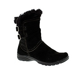 Earth Spirit - Black 'Lewiston' boots with buckle detailing