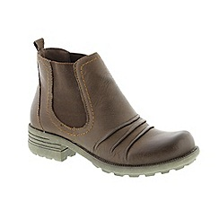 Earth Spirit - Brown Bark 'Mesa' ladies ankle boots