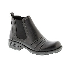 Earth Spirit - Black 'Mesa' ladies ankle boots