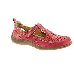 Earth Spirit - Red 'Miami' ladies casual shoes