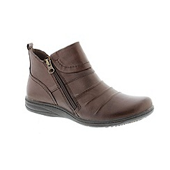 Earth Spirit - Brown 'Bark Missouri' ladies boots