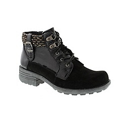 Earth Spirit - Black 'Mobile' ladies boots
