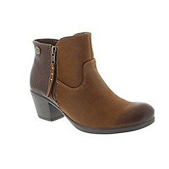 Earth Spirit - Brown Bark 'Montgomery' ladies ankle boots