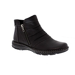 Earth Spirit - Black ladies 'New Mexico' ankle boots with zip