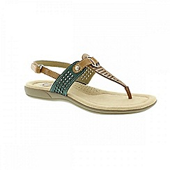Earth Spirit - Brown 'New York' ladies thong sandal
