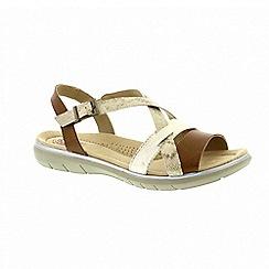 Earth Spirit - Cream leather 'Oceanside' slingback sandals