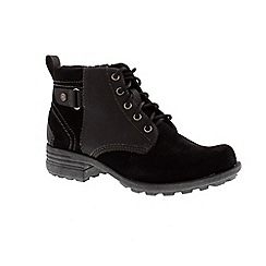Earth Spirit - Black ladies 'Pasadena' lace up boot