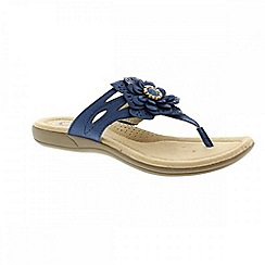 Earth Spirit - Blue 'Savannah' ladies thong sandals