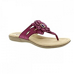 Earth Spirit - Red 'Savannah' ladies thong sandal