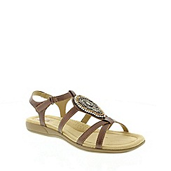 Earth Spirit - Metallic Pewter 'Houston' Women's Sandal