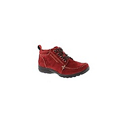 Earth Spirit - Red scarlet 'Alaska' womens ankle boot