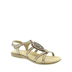 Earth Spirit - Metallic Earth Spirit Platinum 'Houston' Women's Sandal