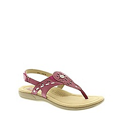 Earth Spirit - Black 'Red Plum' Women's Casual Sandals