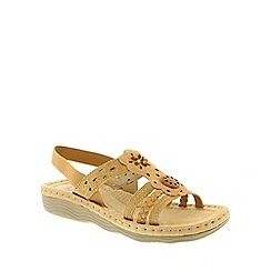 Earth Spirit - Light gold Earth Spirit Honey Plymouth Womens Casual Sandals