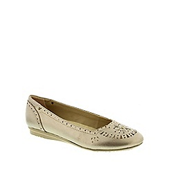 Earth Spirit - Metallic Earth Spirit Platinum 'San Jose' Women's Ballerina Pump