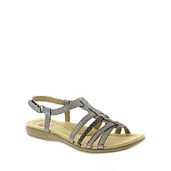Earth Spirit - Metallic Earth Spirit Pewter 'Scotsdale' Women's Sandal
