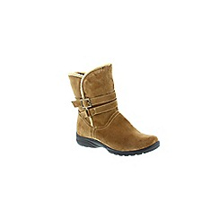 Earth Spirit - Light brown 'Carob tennessee' womens calf boots