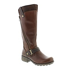 Earth Spirit - Brown almond 'Suffolk' ladies boots