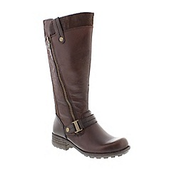 Earth Spirit - Brown bark 'Suffolk' ladies boots