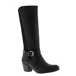 Earth Spirit - Black 'Tulsa' ladies tall boot