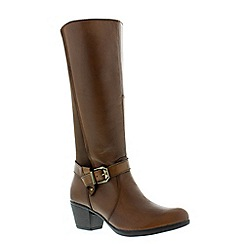 Earth Spirit - Almond 'Tulsa' ladies tall boot