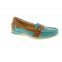 Earth Spirit - Light blue 'Valdez' ladies casual shoes