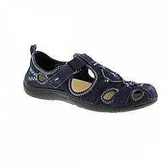 Earth Spirit - Navy 'Wichita' ladies casual shoes