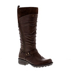 Earth Spirit - Dark brown 'Yonkers 2' ladies tall boots