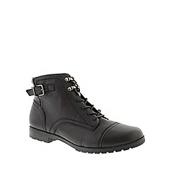 Earth Spirit - Black 'Raleigh' ladies ankle boots