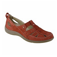 Earth Spirit - Red 'Long Beach' ladies casual shoes